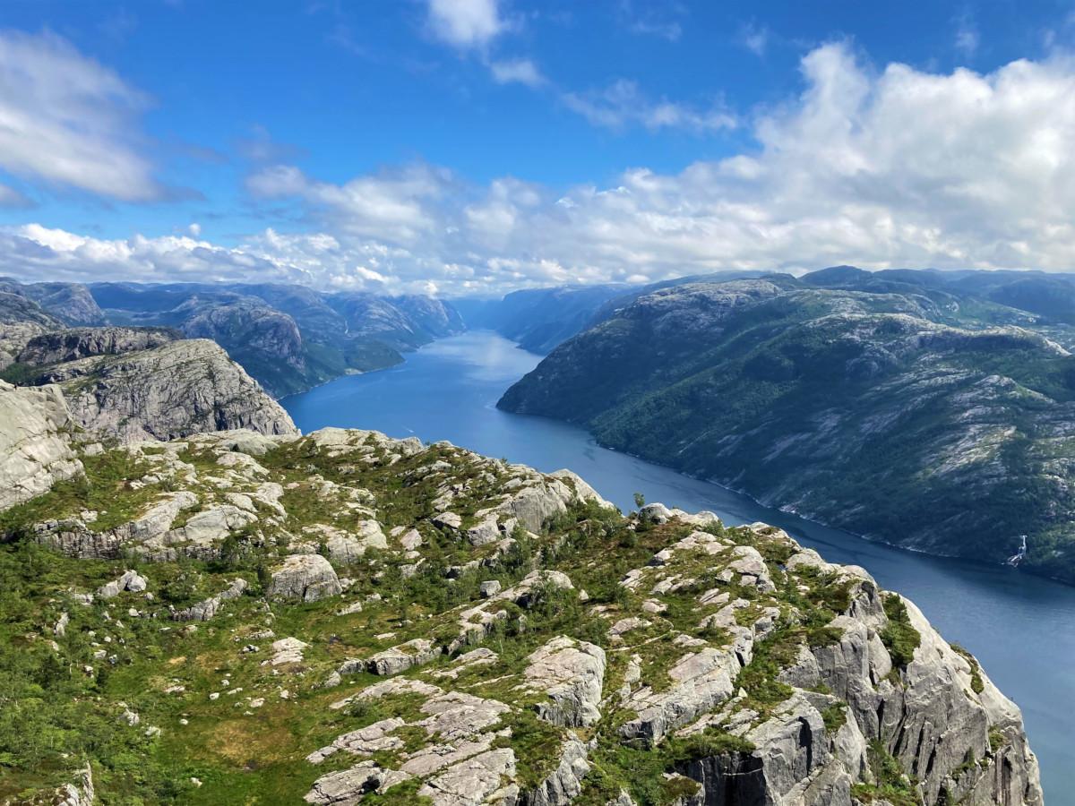 Sognefjord - taget ved Prædikestolen i Norge